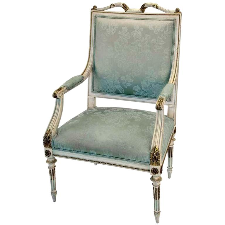 Georges Jacob French Louis Style Chair For Sale