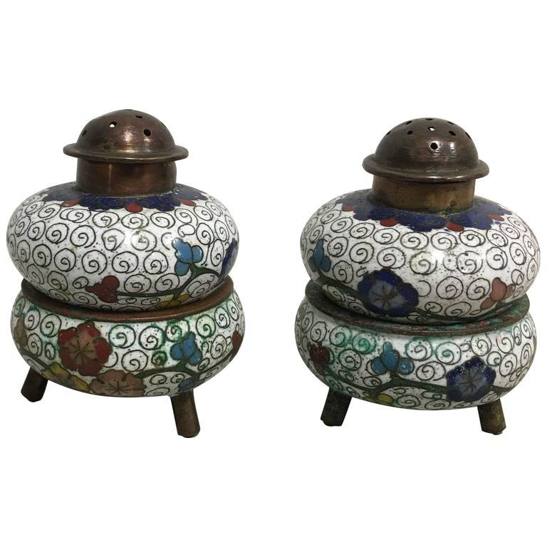 Chinese Silver Salt Pepper Glass
