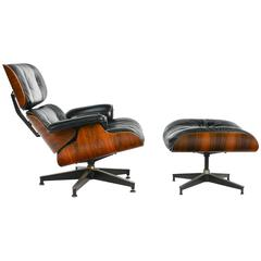 Iconic Ray and Charles Eames for Herman Miller 670 & 671 Rosewood Lounge Chair