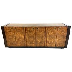 Extraordinary Mahogany and Elmwood Burl Sideboard Cabinet