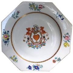 English Armorial Plate, 'Spero' Arms of Douglas, Attributed to Wolfe & Co
