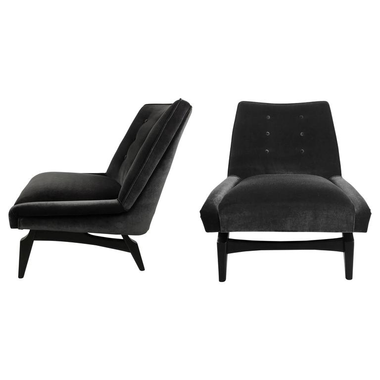 Pair of Italian Modern Style Lounge Chairs