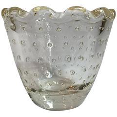 Scalloped Bubble Vase by Daum