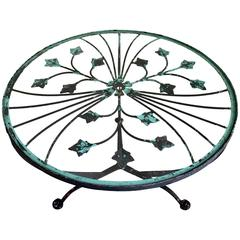 French Art Deco Style Painted Hand-Forged Iron Table