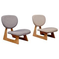 Pair of Junzo Sakakura Lounge Chairs