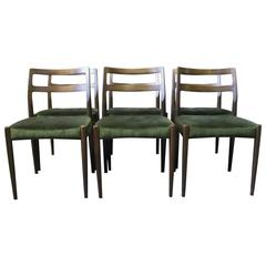 Set of six Dining Chairs in Polished Oak, Model Anne by Johannes Andersen