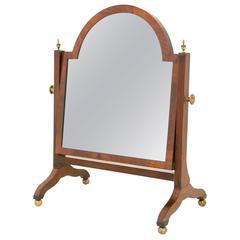 Late Regency Mahogany Toilet Mirror