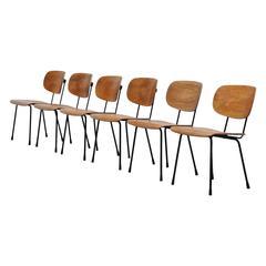 Wim Rietveld 116 Chairs, Gispen Culemborg, Holland, 1953