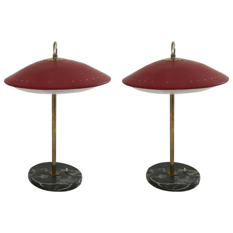 Pair of Italian Table Lamps, 1950