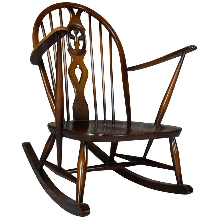Rocking Chair 1950s Ercol With Cushions At 1stdibs