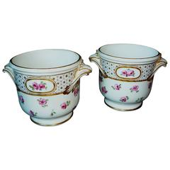 Pair of French Louis XV Period Sèvres Porcelain Wine Cooler, circa 1760-1770