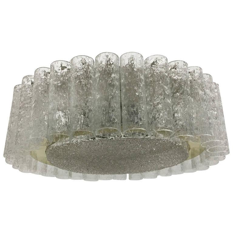 Doria Leuchten Glass Tube Flush Mount