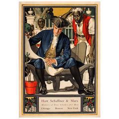 Original Antique Advertising Poster, Hart Schaffner & Marx Fine Clothes for Men