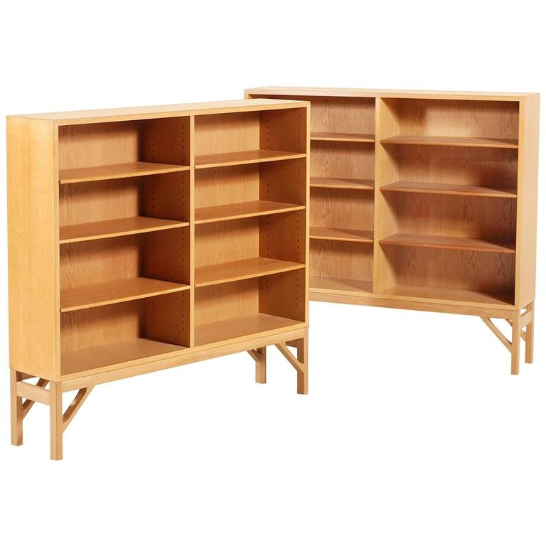 Børge Mogensen Pair of Oak Bookcases, 1958