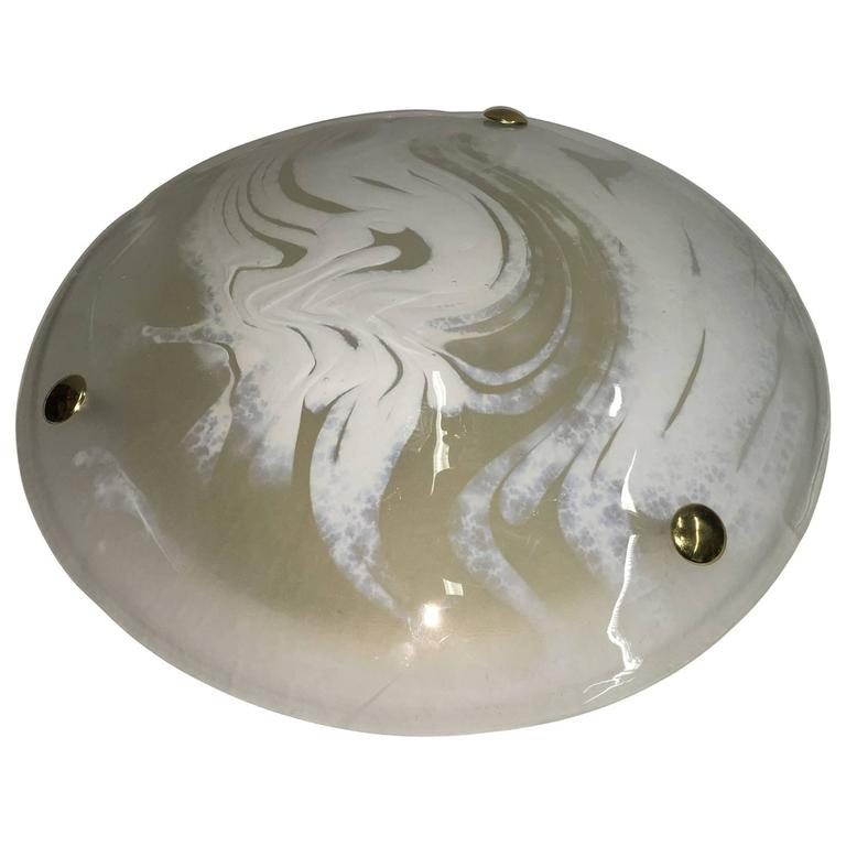 Hillebrand Swirl Glass Flush Mount Ceiling Lamp Fixture