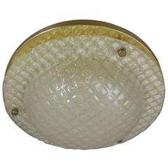 Beautiful Fischer Leuchten Textured Glass Flush Mount