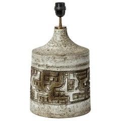 Lovely Ceramic Lamp by Huguette & Marius Bessone, circa 1970