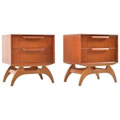 Pair of Rare Danish Chest of Drawers in Teak and Oak, 1950s