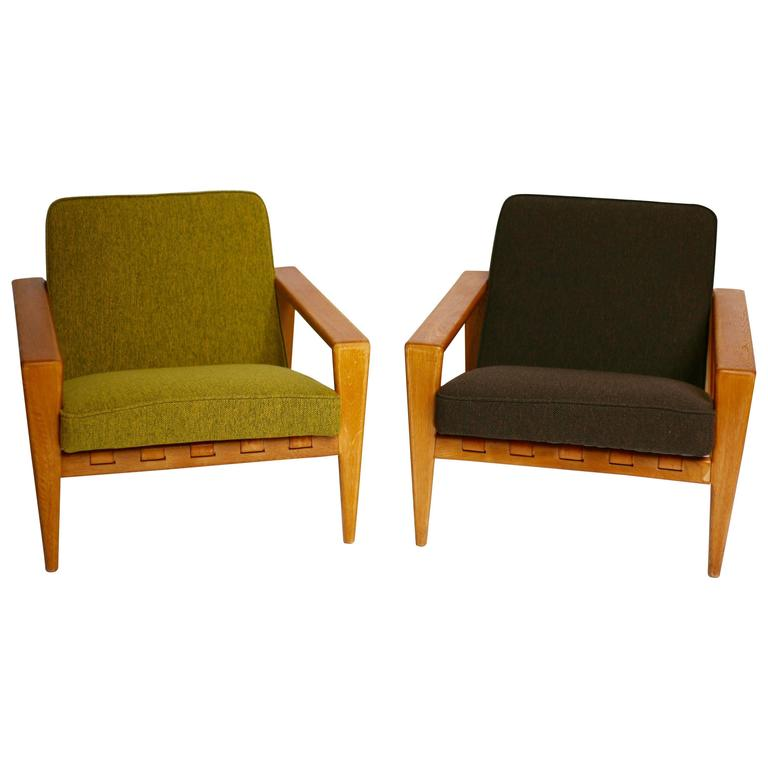 Two Lounge Chairs Bod 246 By Svante Skogh For Seffle M 246 Bler