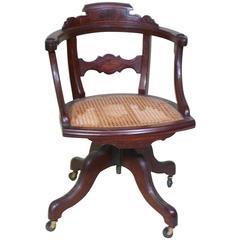 Very Fine Eastlake Mahogany Swivel Desk Chair, circa 1880