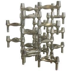 Set of 20 Vintage 1970s BMF Nagel Candleholder Designed, Ceasar Stoffi, 1960s