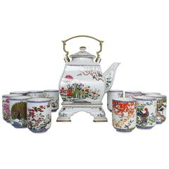 Franklin MInt Porcelain Tea Set by Naoko Nobata