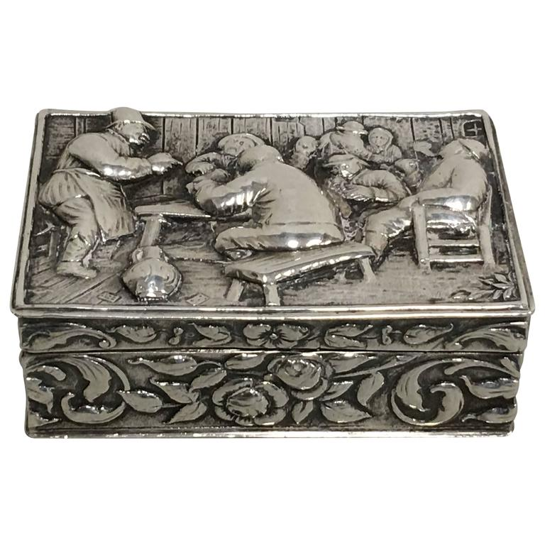 19th Century English Silver Snuff Box