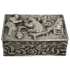 19th Century English Silver Snuff Box