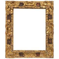 Carved Giltwood Spanish Baroque Frame