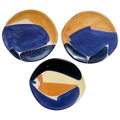 Set of Decorative Ceramic Dishes by Mado Jolain