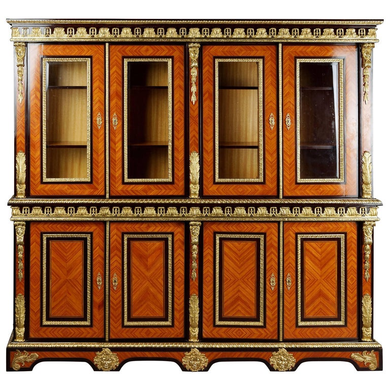 20th Century Louis XIV Style French Bibliotheque Bookcase For Sale