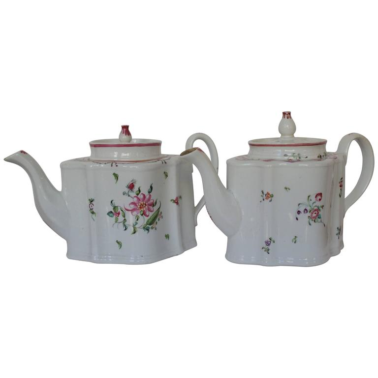 Pair of 18th Century French Teapots 1