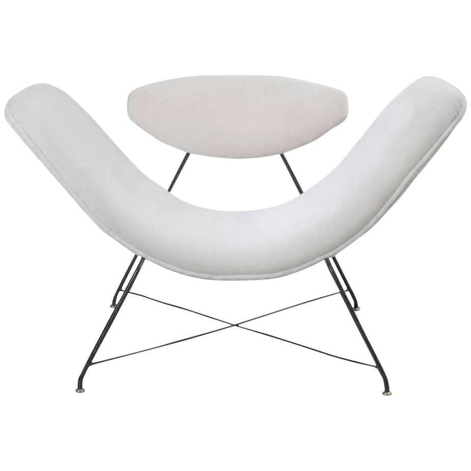"Martin Eisler & Carlos Hauner Model ""Reversible"" modern Brazilian armchair 1955"