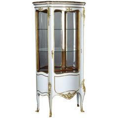 20th Century Louis XV Style White Salon Vitrine