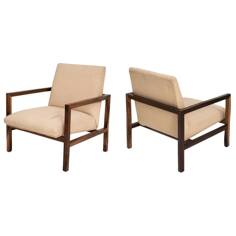Branco e Preto Pair of Armchairs Manufactured by Mahlmeister & Cia, Brazil, 1950 For Sale