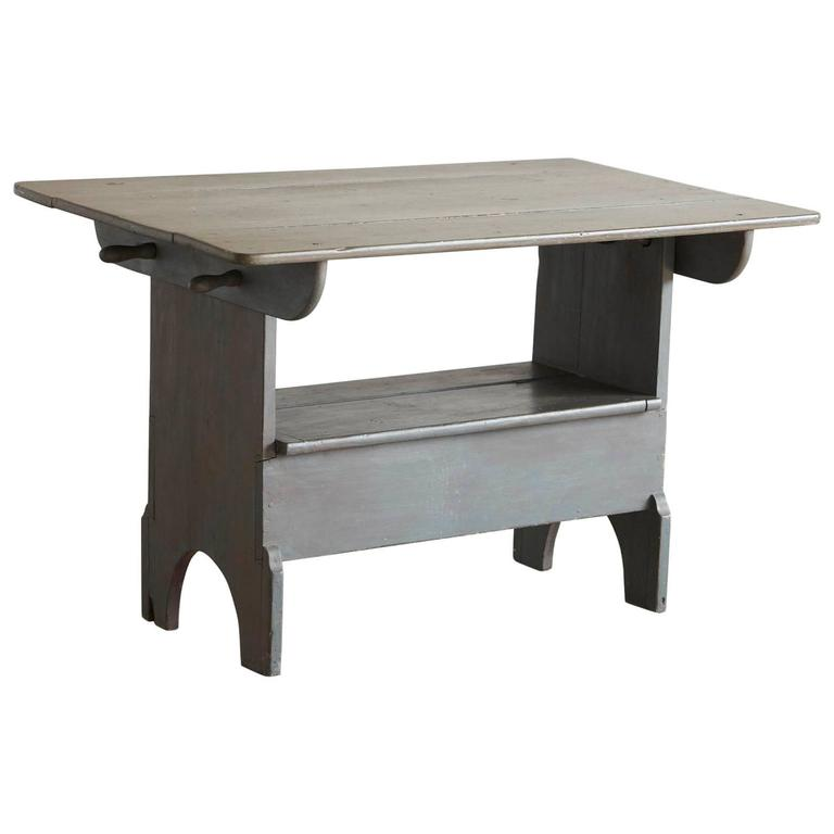 Painted Antique Pine Tilt-Top Table into Bench