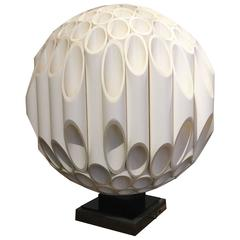 "Signed Rougier ""Sphere"" Sculptural Table Lamp"