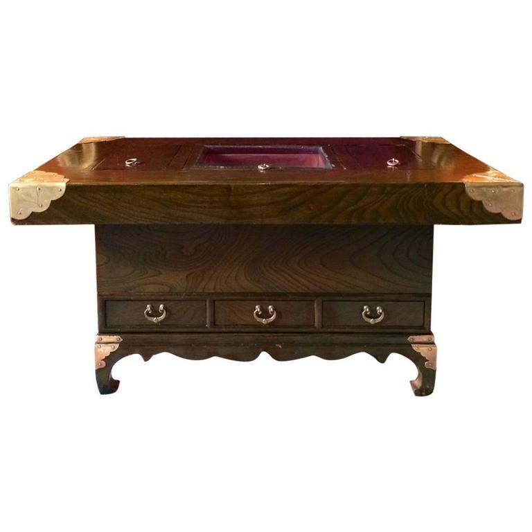 Coffee Table With Drawers Sale: Japanese Hibachi Coffee Table Drawers At 1stdibs