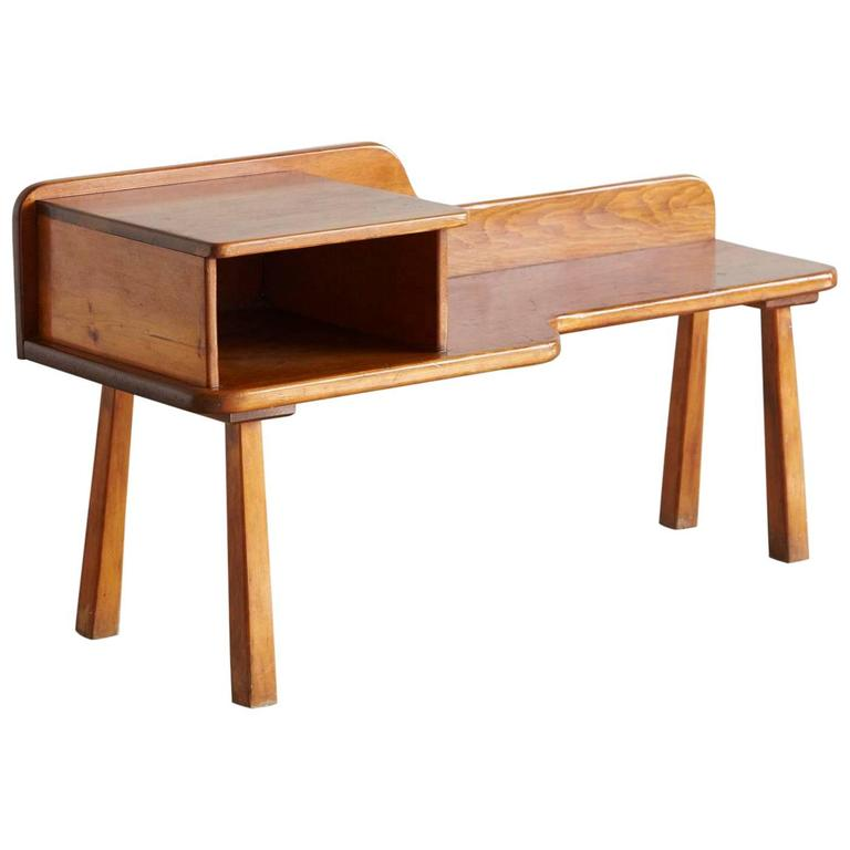 Custom-Made Pine Bench with Open Top Box