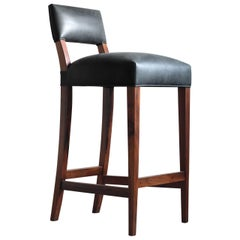 Neto Modern Stool from Costantini in Rosewood Frame and Argentine Leather