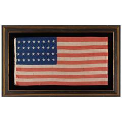 32 Star Antique American Flag, Representing Minnesota Statehood