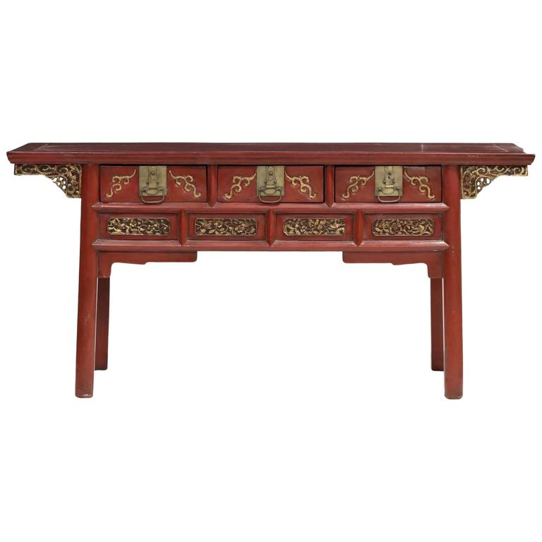 Chinese 19th Century Decorated Alter Table