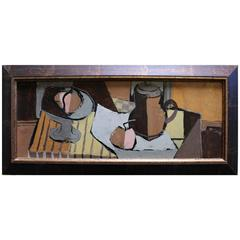 Mid-Century Modern Cubist Charles Levier Still Life Painting