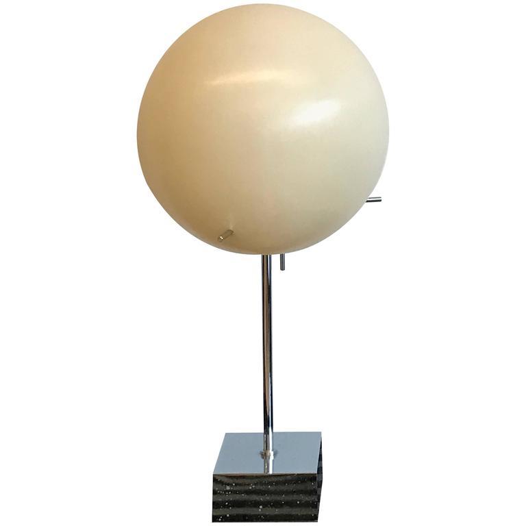 Paul mayen for habitat chrome desk lamp with globe shade for Habitat chrome floor lamp
