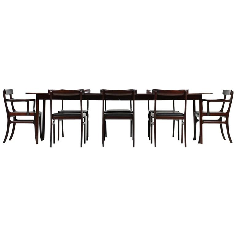 1960s Ole Wanscher Pj Dining Room Set Rungstedlund Table And Eight