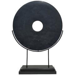 Jade Disk on Stand, Large