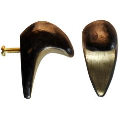Blackened Dickon Solid Brass Drawer Pull Hardware