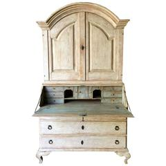 18th Century Period Swedish Rococo Secretaire Cabinet
