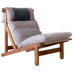 "Bernt Petersen Wørts Prototype Oak ""Rag"" Lounge Chair Danish Modern Vintage"