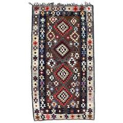 Vintage Persian Flat-Weave Kilim Rug